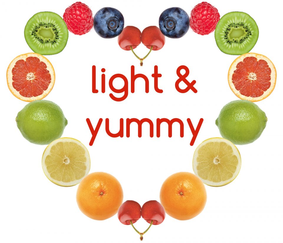 logo, diet recipes blog, Light & Yummy