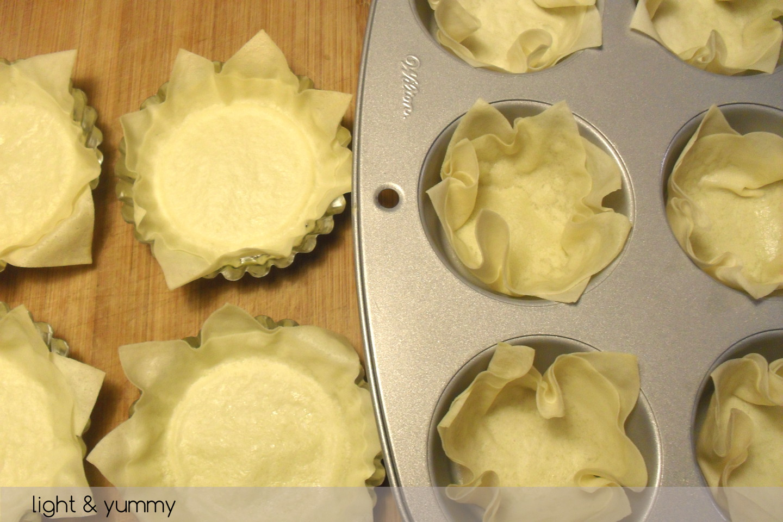 Phyllo shells, basic recipe, Light & Yummy