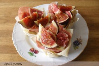 Figs and parma ham tartlets, summer recipe, Light & Yummy