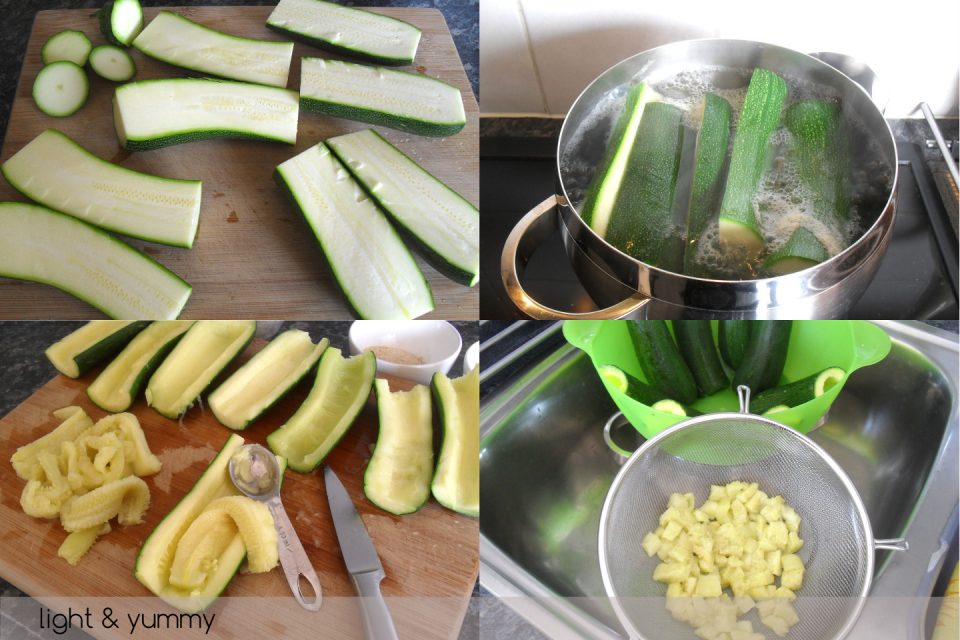Stuffed courgettes, light recipe, Light & Yummy