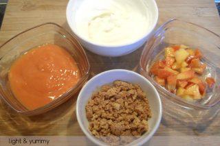 Peach and amaretti trifle, summer recipe, Light & Yummy