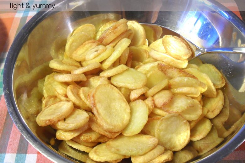 Very crunchy chips, recipe for oven or Airfryer