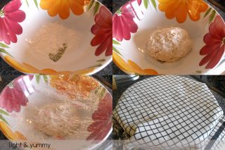 "Easy pizza dough ""no need to knead"", Light & Yummy"