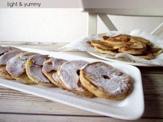 Apple ring pancakes, Light & Yummy