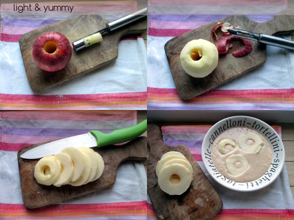 Apple ring pancakes, Light & Yummy